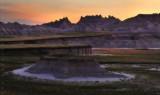 Badlands Sunset print