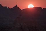 Sunrise at the Badlands print