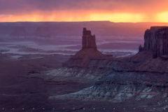 Candlestick Tower, sunset, Canyonlands National Park