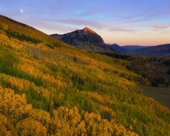 Mt Crested Butte Autumn Sunset