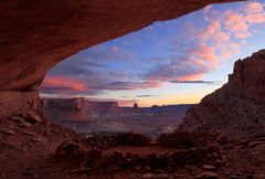 False Kiva, Canyonlands National Park, sunset