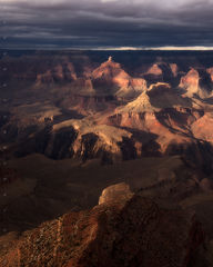 Buttes bathed in Light-Vertical