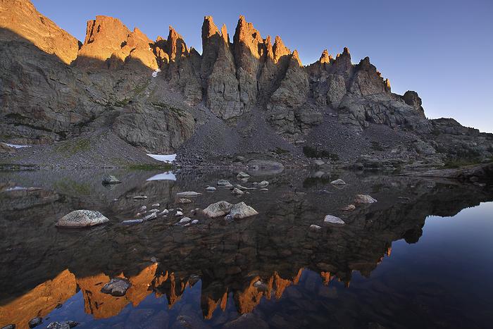 sky blue mountain reflection - photo #33