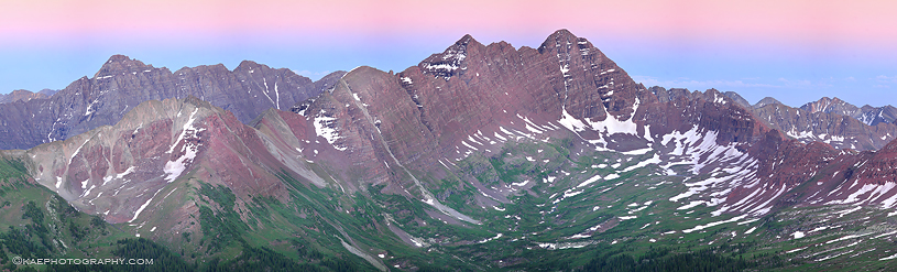 Pierre Lakes area,Maroon Bells & Pyramid Peak , photo