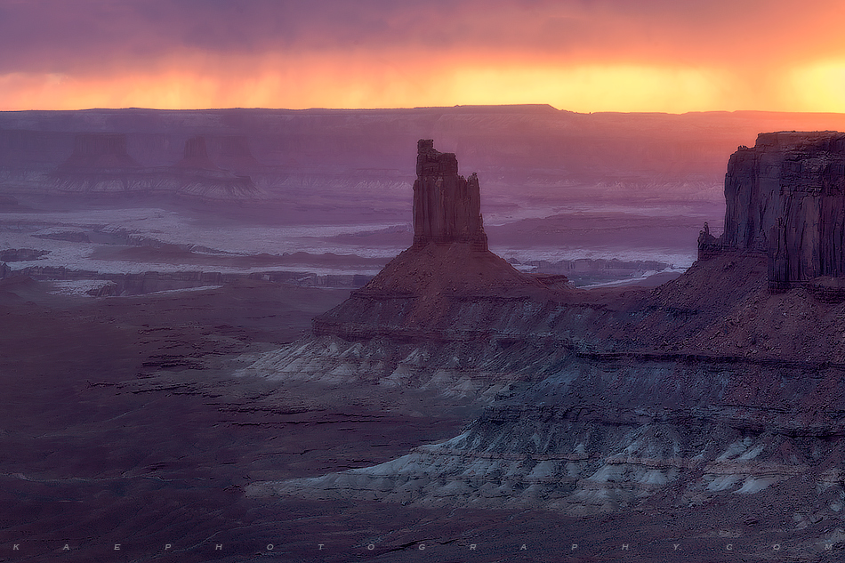 Candlestick Tower, sunset, Canyonlands National Park, photo
