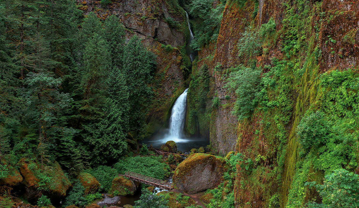 Wahclella falls, photo