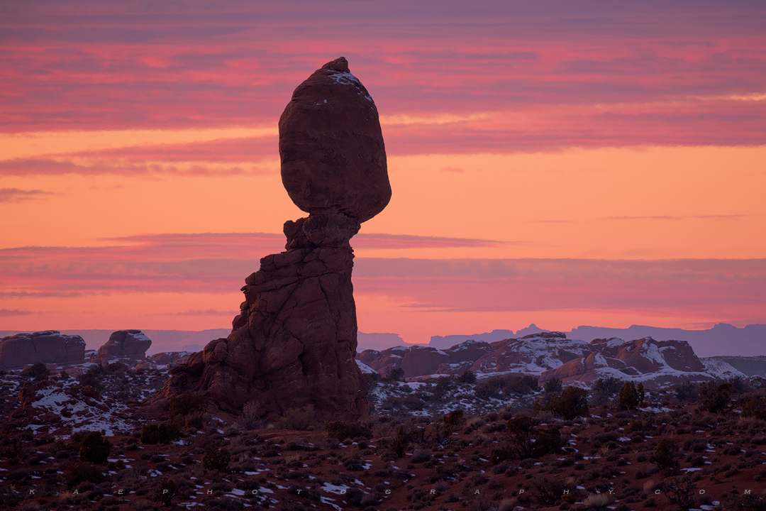 Balanced Rock, canyonlands, arches, sunset, photo