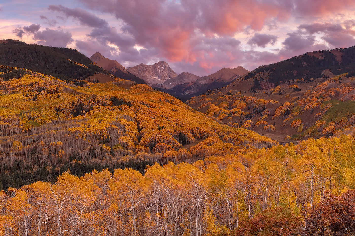 One of my favorite Fall sunsets at Capitol Creek.