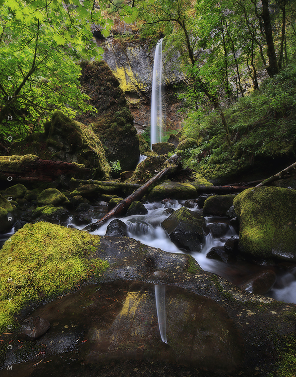 Oregon waterfall photos, columbia river gorge waterfall photos, waterfall photography, elowah falls photos, , photo